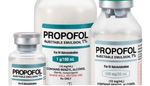 Propofol bottles